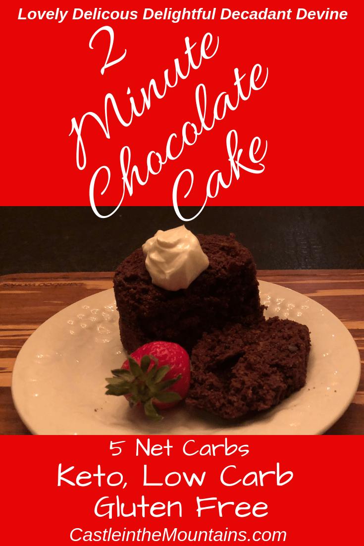 Keto Two Minute Chocolate Cake