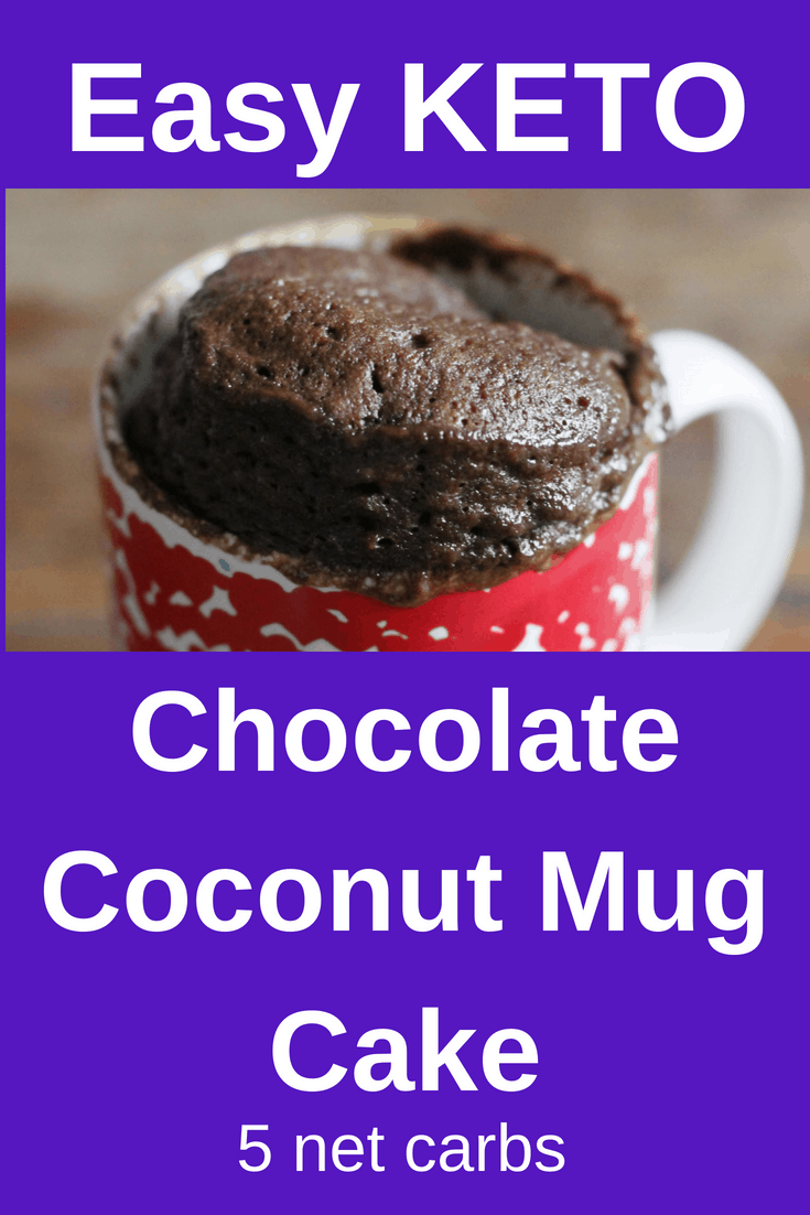 keto, ketogenic, chocolate, coconut, mug cake, low carb ...