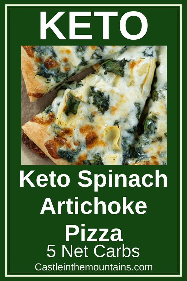KETO Spinach Artichoke Pizza Recipe