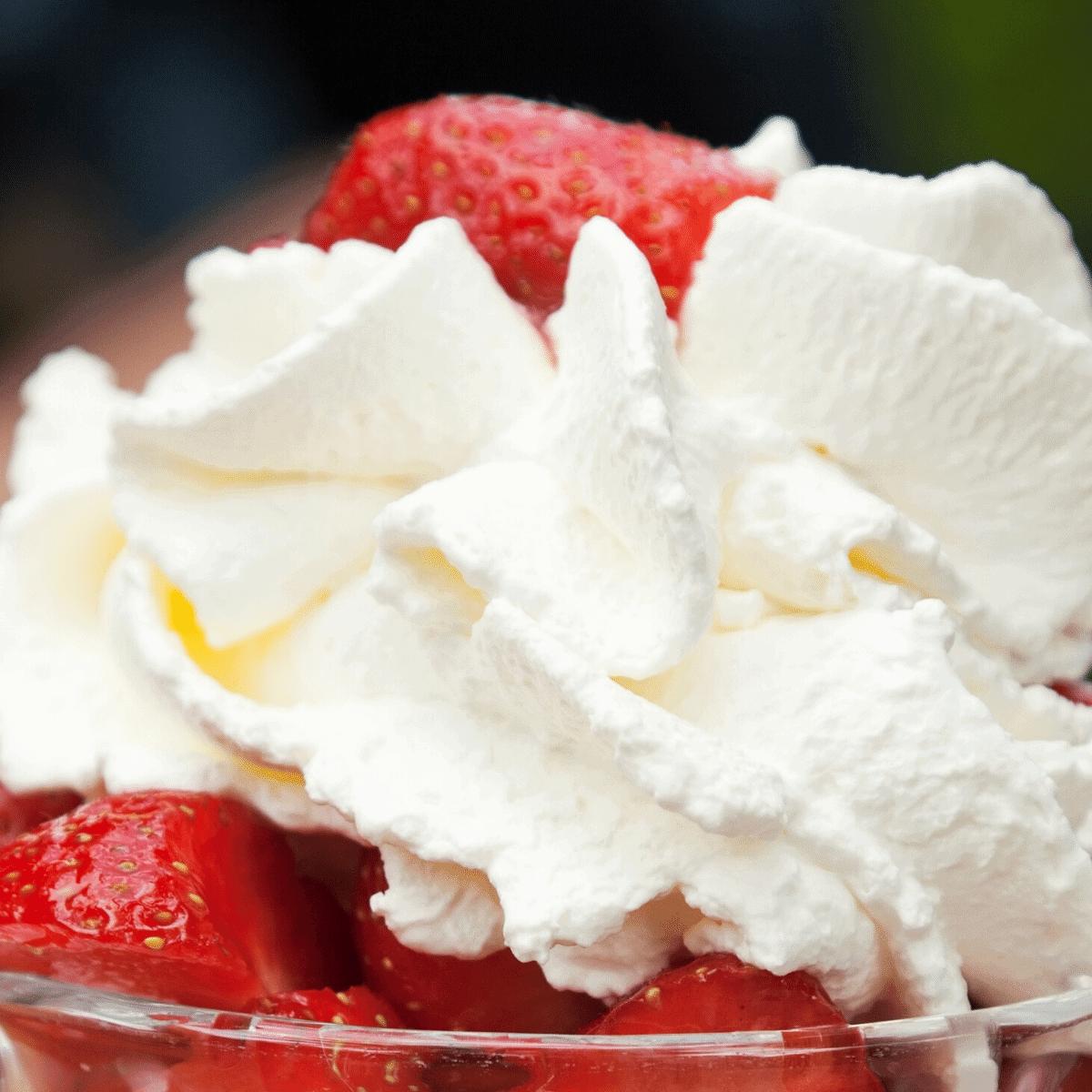 Homemade Keto Whipped Cream recipe low carb gluten free