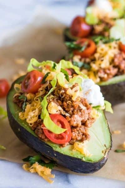 taco stuffed avacados
