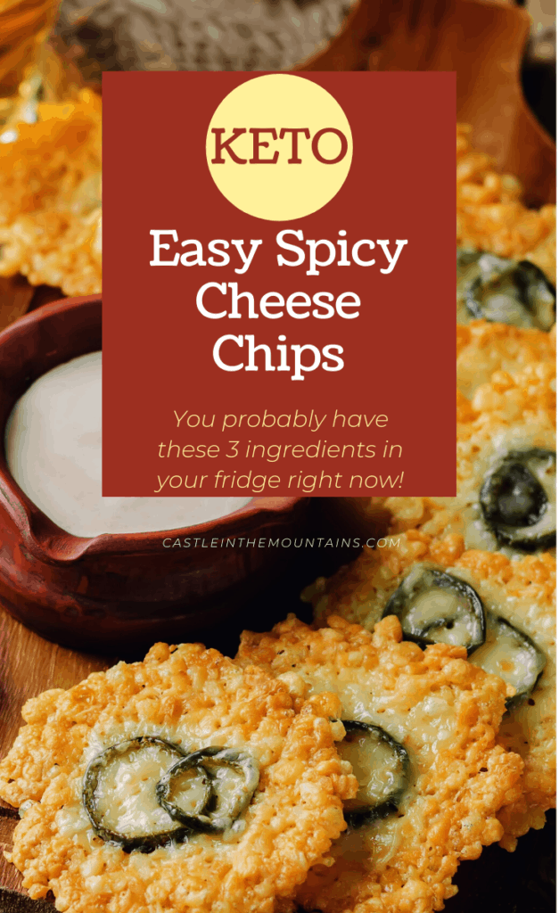Easy Keto Spicy Cheese Chips Pin