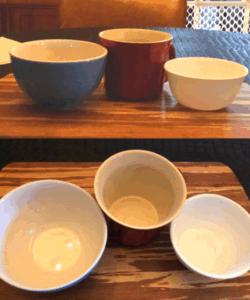 Deep bowls for burger bun