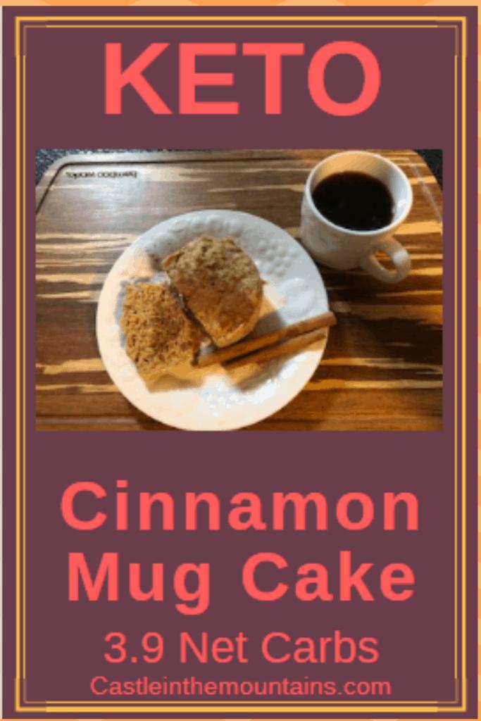 Two Minute Cinnamon Mug Cake Recipe