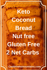 keto Low carb coconut bread recipe