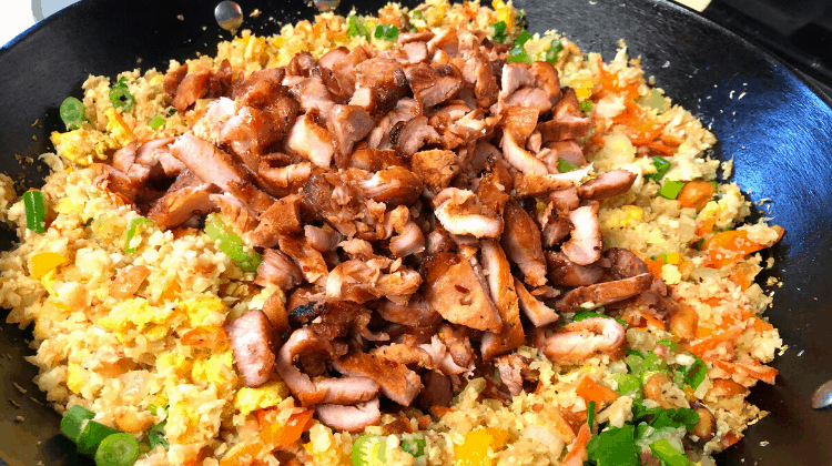 Keto Fried Rice with Char Siu