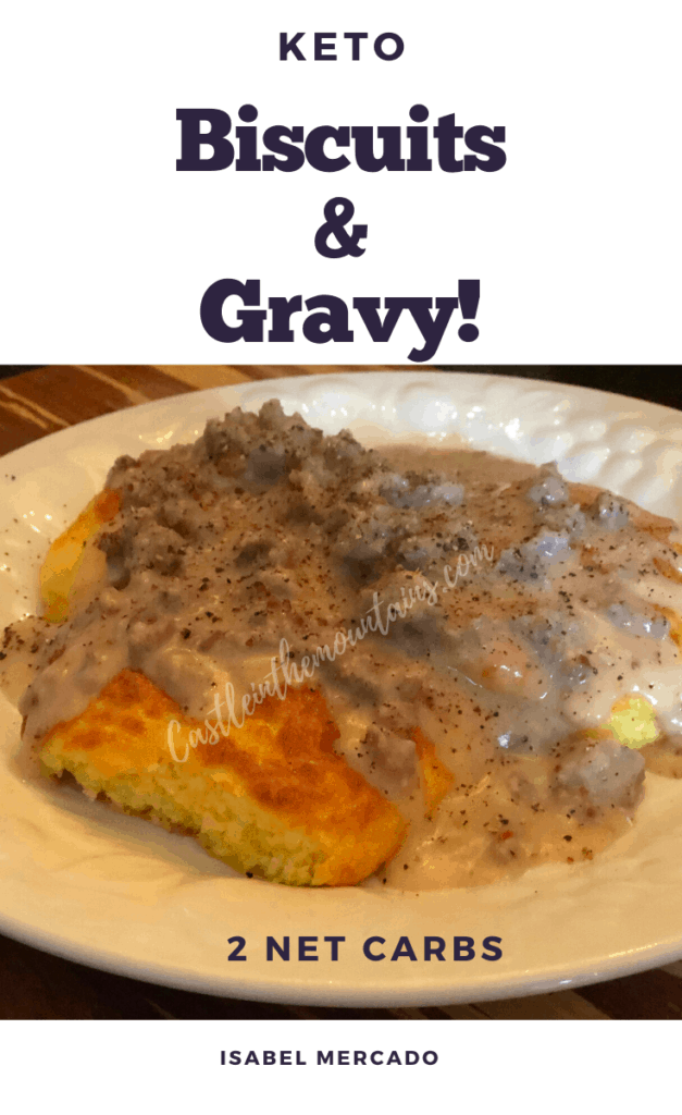 Keto biscuits & gravy pin
