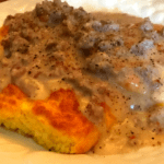 Satisfying Homemade Keto Biscuits & Gravy ~ 2 Net Carbs
