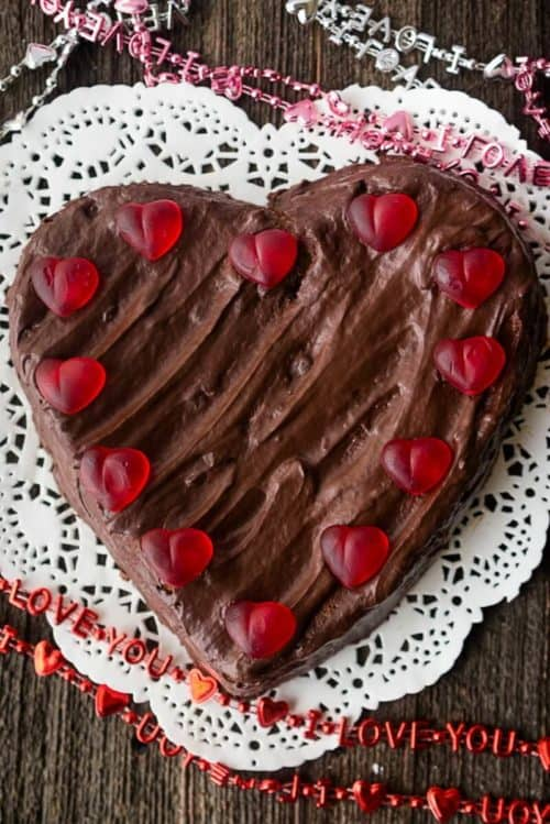 Low Carb Chocolate Heart Cake