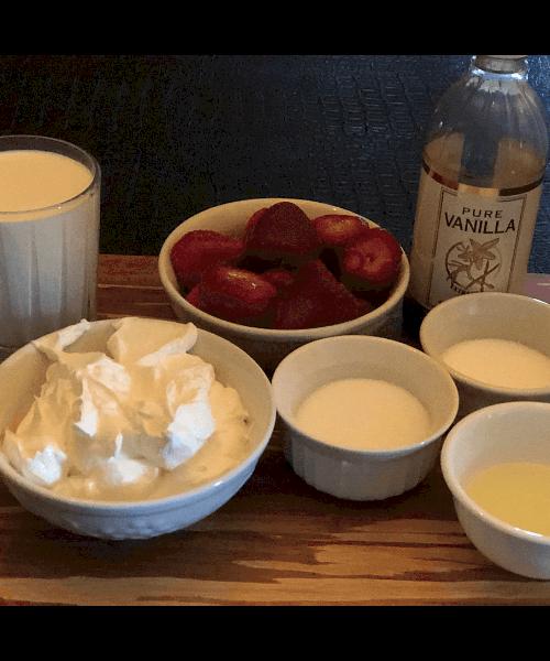 Keto strawberry ice cream ingredients