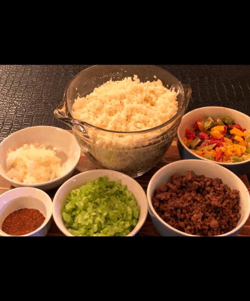 Cauliflower Dirty Rice Ingredients