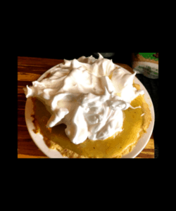 meringue on pie