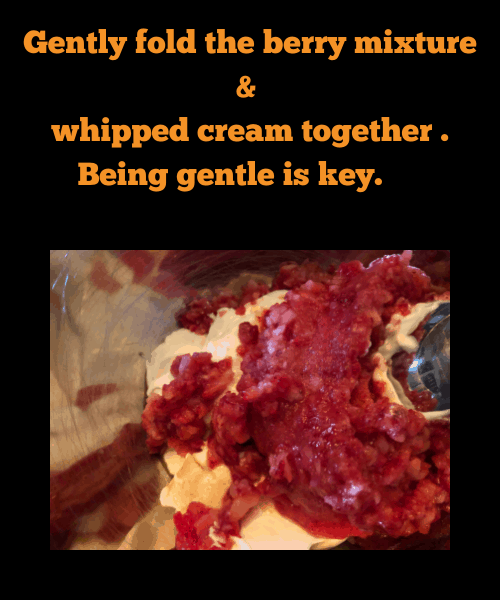 whipped cream & berry mix