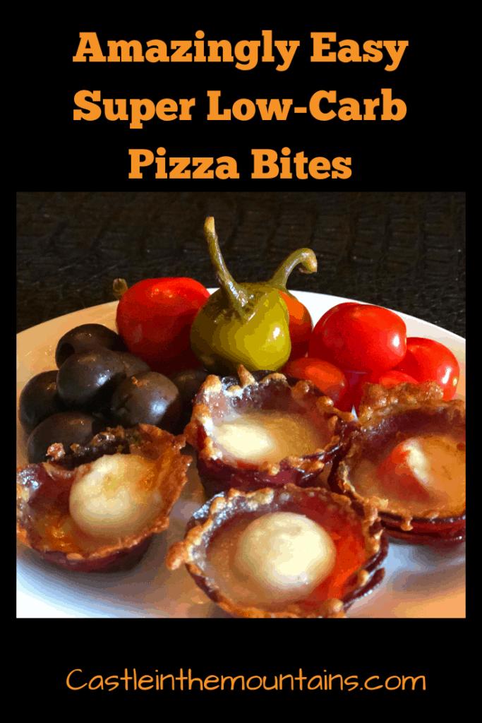 Low carb pizza bites