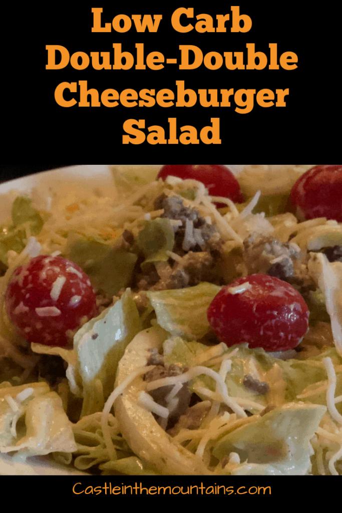 Double double cheeseburger salad
