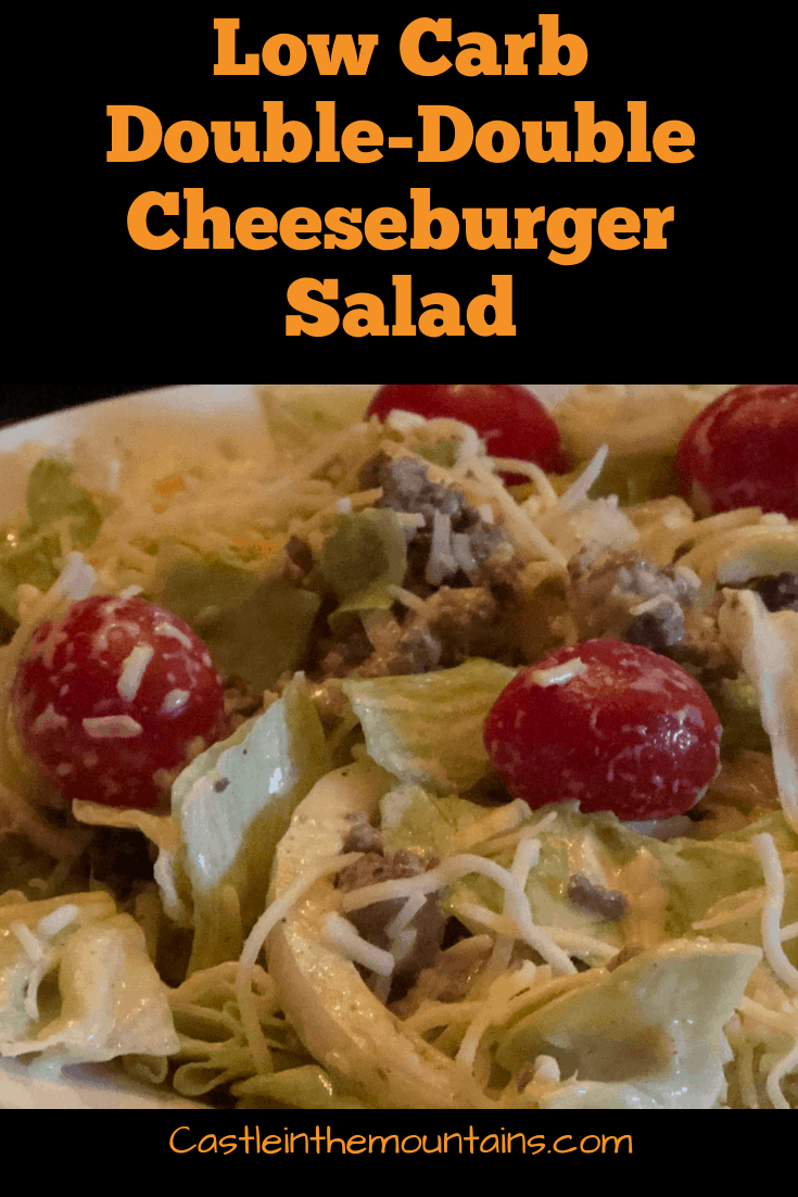 In-N-Out Double-Double Copycat Cheeseburger Salad
