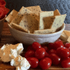Low Carb Everything Almond Crackers