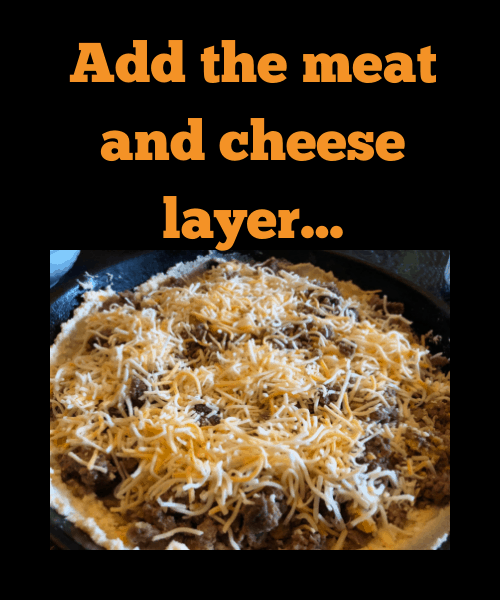 Yo Keto Taco Pie layering