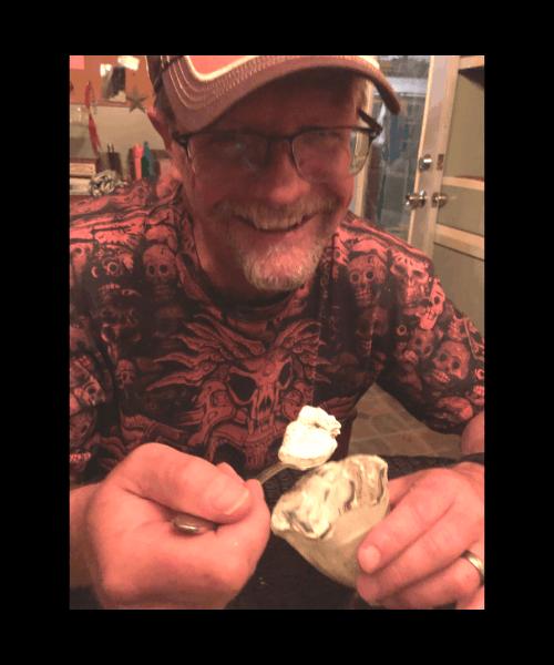 Thom eating ice cream