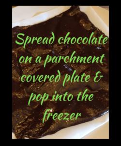 Sugar free chocolate melted