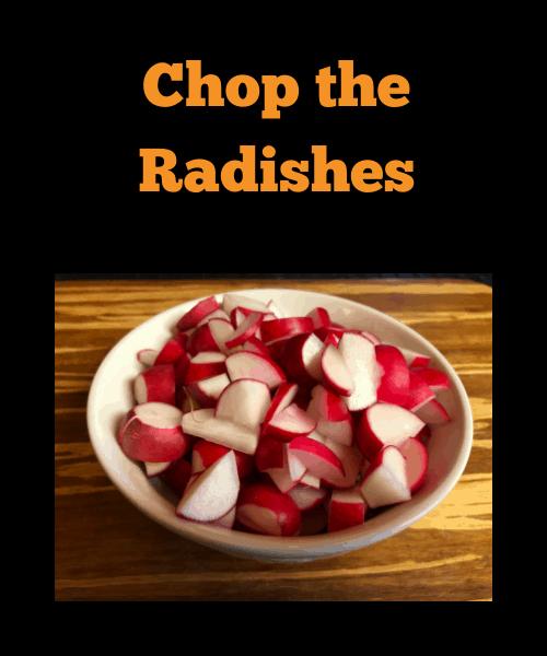 Chopped radishes