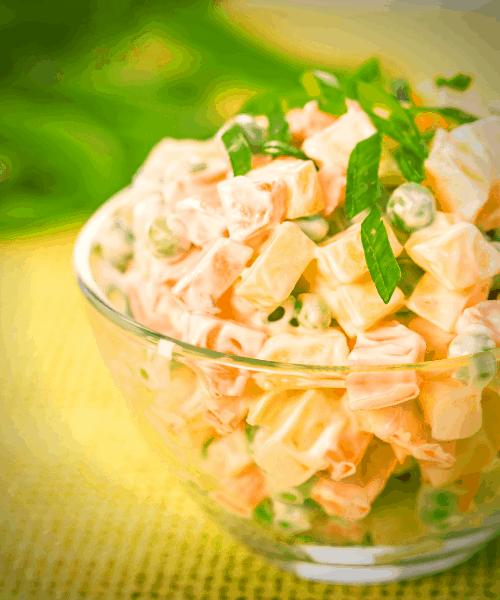 plain keto faux-tato salad