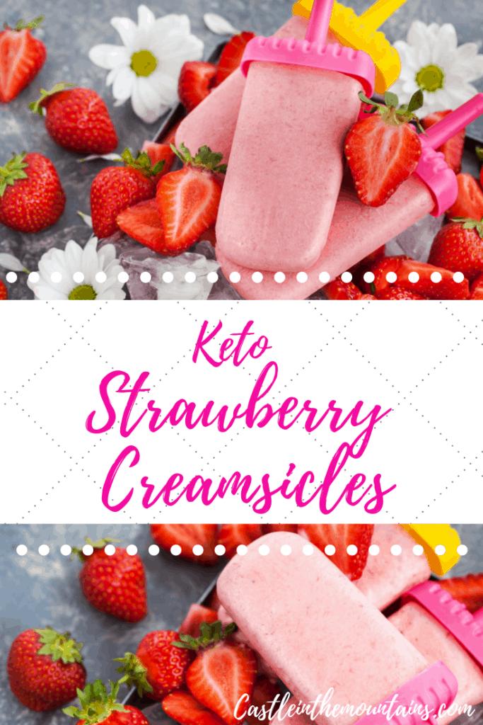Keto Strawberry Creamsicle Pin