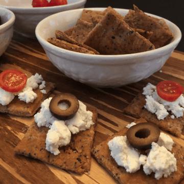 Everything Bagel Cheese Crackers recipe keto gluten free