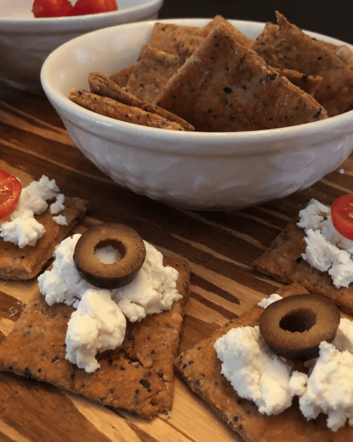 Everything Bagel Cheese Crackers recipe keto gluten free