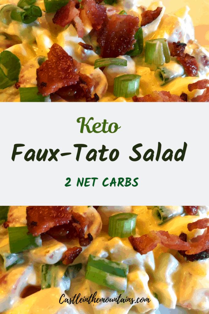 Keto Fauxtato salad