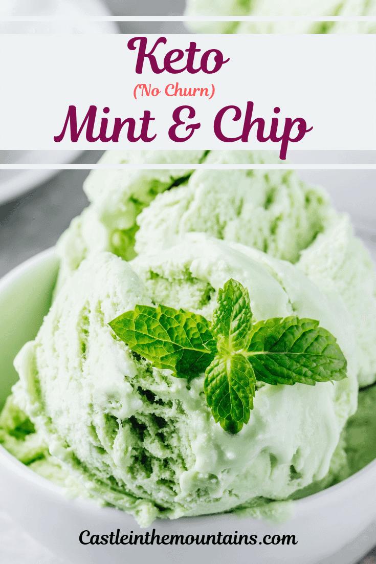 Keto Mint & Chip Ice Cream