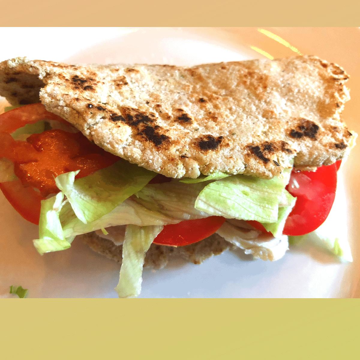 keto psyllium flat bread recipe - gluten egg & nut free
