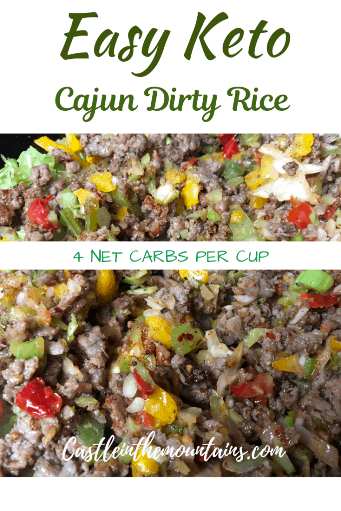 Keto Cajun Dirty Rice
