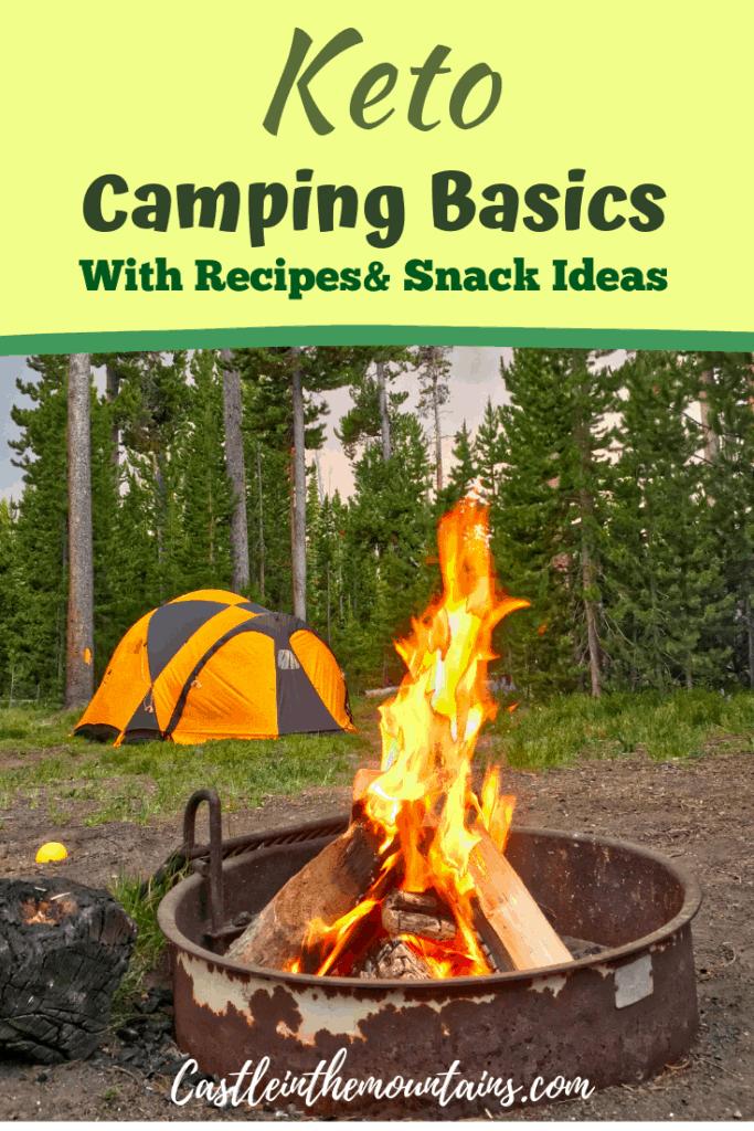 Keto camping basics pin