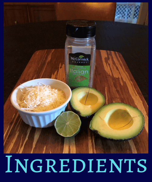 Avocado Cheese Chips Ingredients