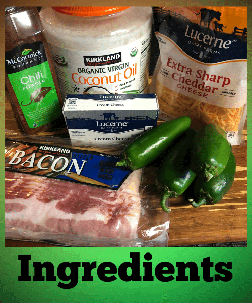 Jalapeno Cheddar Bacon bites Ingredients