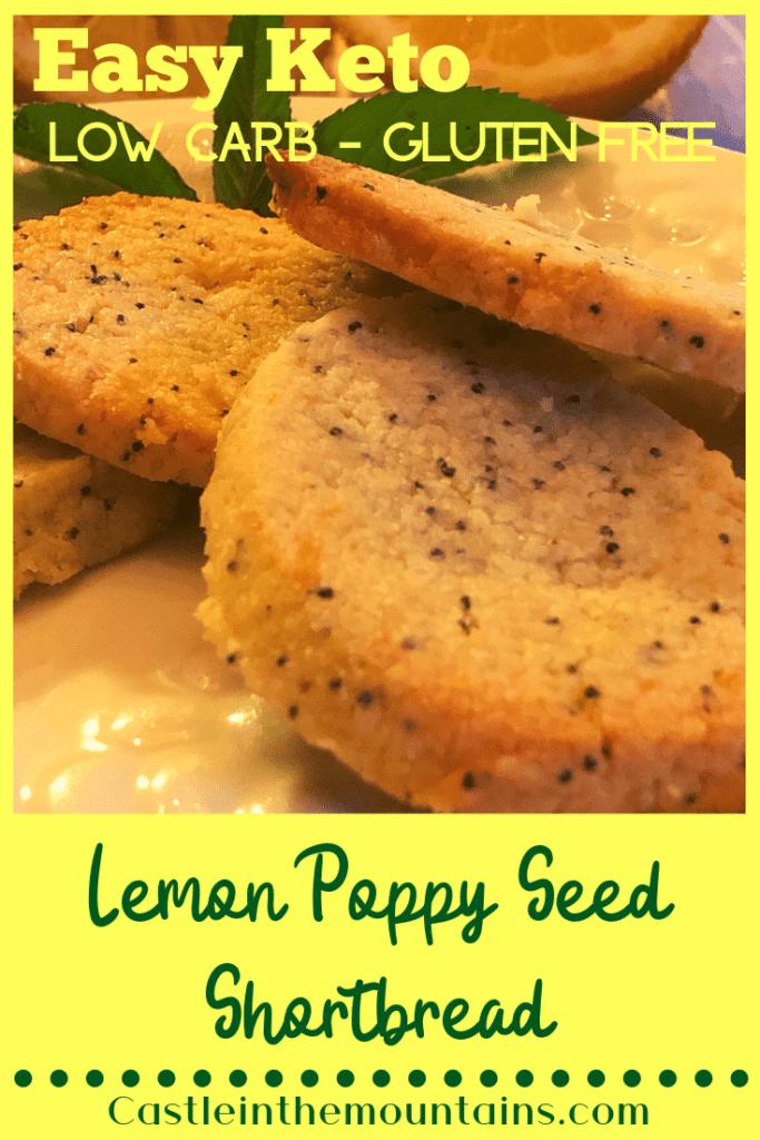 Keto Lemon Poppy Seed Shortbread Cookies Pin