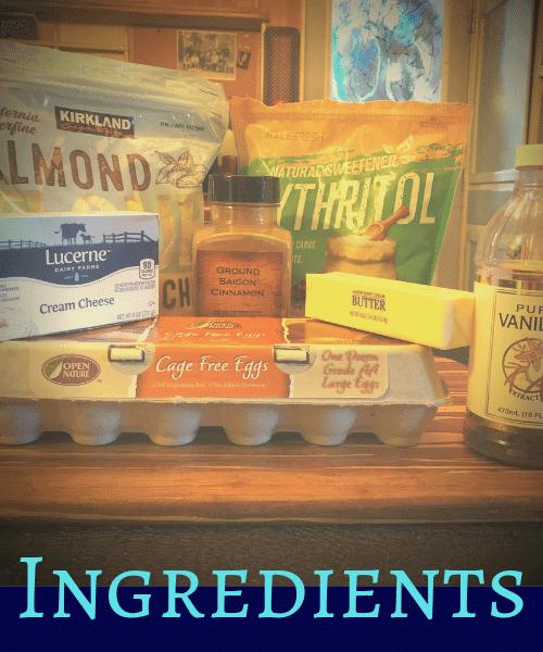 Image of Keto Cinnabon Ingredients