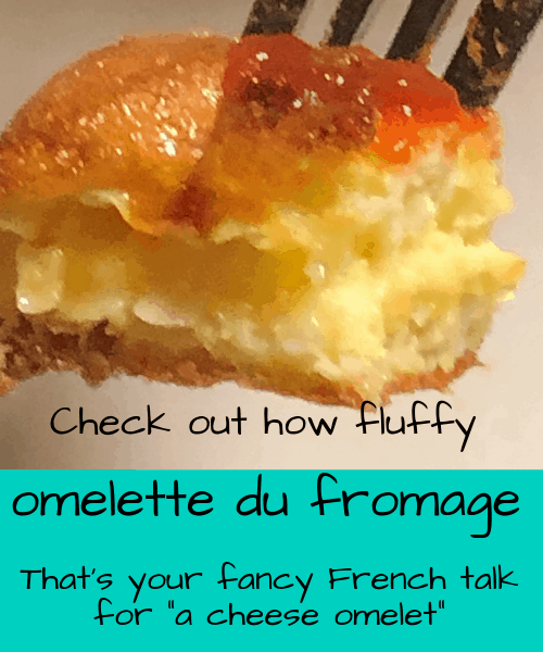 Perfect omelet, omelette du fromage