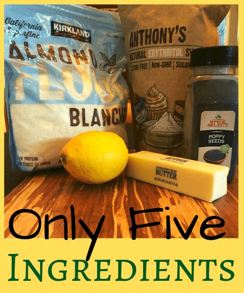 2 Keto Lemon Poppy Seed Shortbread Ingredients