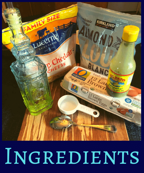 Jalapeno Cheddar Chaffle Ingredients