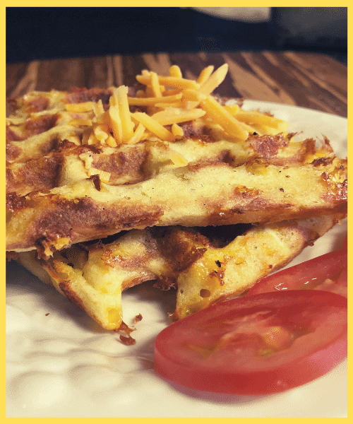 low carb Jalapeno Cheddar Chaffle