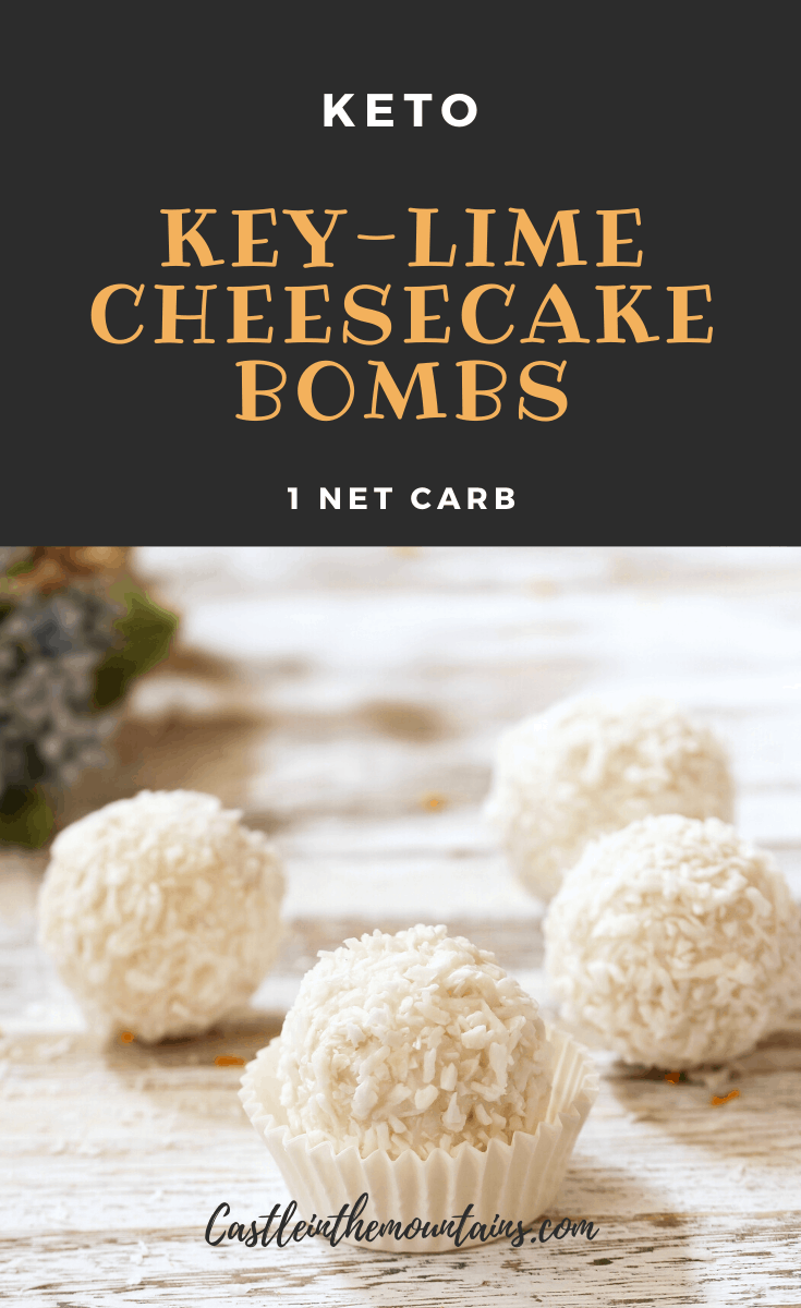 Key Lime Cheesecake Fat Bombs