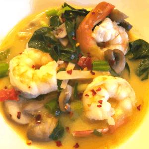 Thai Shrimp & Veggie Soup recipe keto gluten free low carb