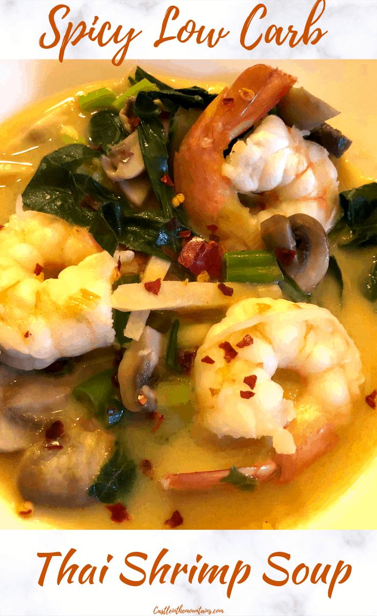 Spicy Thai Shrimp & Veggie Soup