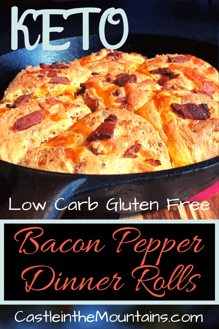 Bacon Cheddar & Black Pepper Keto Dinner Rolls