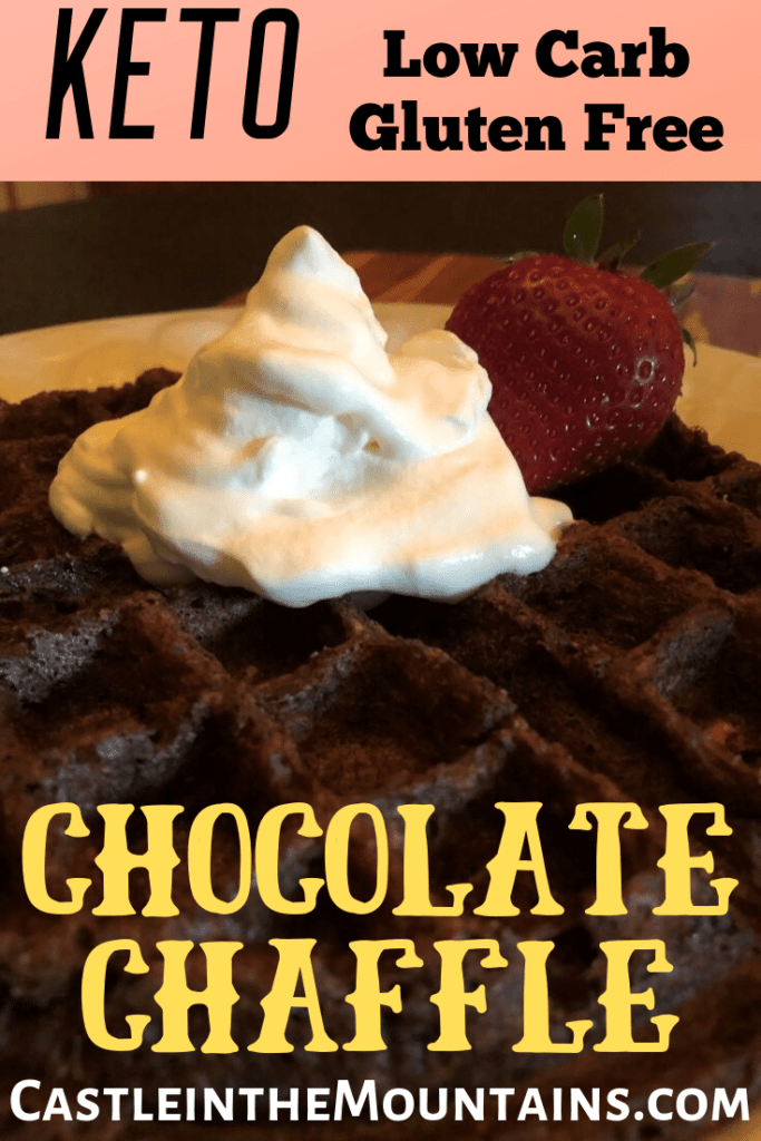 Keto Chocolate Chaffle low carb gluten free