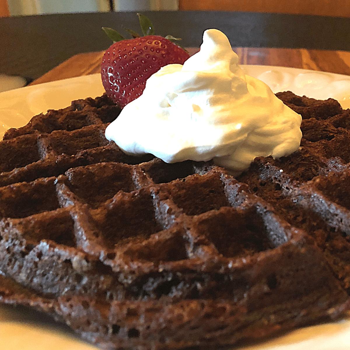 Keto Chocolate Chaffle recipe gluten free low carb