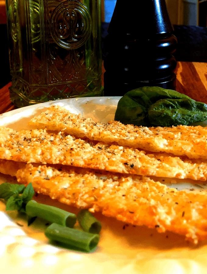 Keto Extra Cheesy Garlic Bread Sticks Recipe - low carb - gluten free