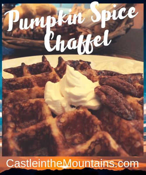 Keto Pumpkin Spice Chaffle Low carb recipe